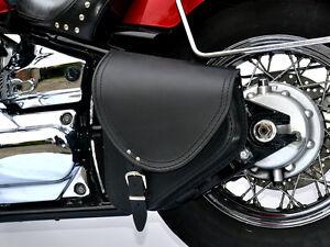 (B2) Yamaha Dragstar Vstar XVS 650 Leather Swingarm Saddle Bag Pannier Single