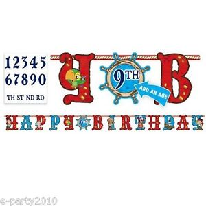 JAKE & THE NEVER LAND PIRATES JUMBO LETTER BANNER KIT ~ Birthday Party Supplies