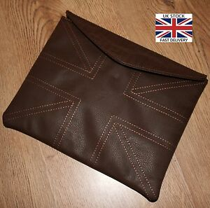 UNION JACK Brown LEATHER Effect iPad 2 3 4 tablet Case Cover Retro Gift Present