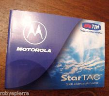 MANUALE originale PER MOTOROLA STARTAC Italiano STAR TAC cartaceo senza floppy