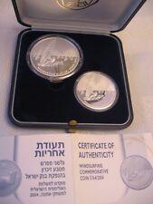 ISRAEL 2004 Athens Olympiad games WINDSURFING PR+BU SILVER COINS +BOX+COA