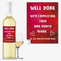 WINE BOTTLE LABEL New Mum Funny Rude Baby Shower Gift New Born Boy Girl #1057