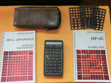 VINTAGE HP-41CX Programmable Calculator w/Case, Advant & Games Mdls