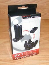 2 in 1 PS-3 MOVE Controllers (YCC-P3003) PS-3 Controllers Double Charging Dock
