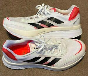 Adidas Adizero Boston 10 Mens Running Shoes - White UK 11.5