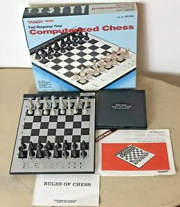 Vintage Tandy 1650 Computerized Chess Set  Fast Response Time Cat No: 60-2194