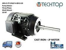 20 HP, Electric Motor, PUMP, 1800 RPM, 256JM, 3-Phase, NEMA Premium
