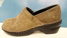 Sonoma Clog Women's Size 8m Tan ultra suede Slide Slip On Comfort Shoe