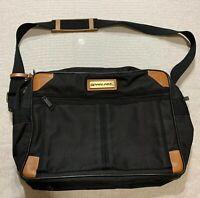 Vintage PAN AM Airways Flight Travel Bag Carry-on Luggage Canvas Black Briefcase