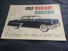 1952 Mercury Monterey Color Brochure Prospekt