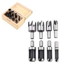 8PCS Carbon Steel Wood Plug Cutter Drill Bit Set Cutting Tool Woodworking