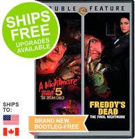 Nightmare on Elm Street 5 Dream Child / Freddy's Dead Final Nightmare (DVD, NEW)