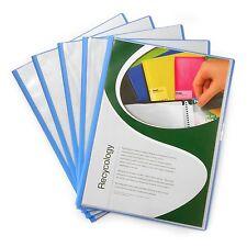 """Carpeta de proyecto de Libros de pantalla A4 10 Bolsillos - """"paquete de 5"""" - por Pentel-Azul"""