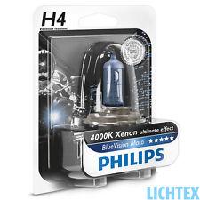 H4 PHILIPS BlueVision Moto - ultimative Xenon-Effekt - Power - NEW