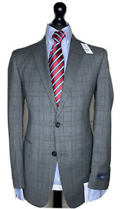 BROOKS BROTHERS 1818 REGENT LUXURY DESIGNER SUIT PRINCE OF WALES CHECK 38x32x37