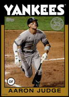 Aaron Judge 2021 Topps 5x7 1986 Baseball 35th Anniversary Gold #86B-99 /10