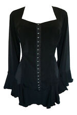 NWT WOMENS PLUS SIZE CLOTHING CORSETTA TOP IN BLACK 3X