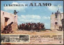 CINEMA-fotobusta LA BATTAGLIA DI ALAMO john wayne