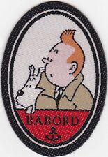 Ecusson à coller thermocollant - Tintin Babord - Tintin et Milou