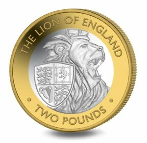 2021 BIOT 2 pounds. LION OF ENGLAND. PROOF! PREORDER!