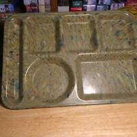 "Vintage Texas Ware 146 Melmac Melamine Confetti Green Lunch Serving Tray 10""X14"""