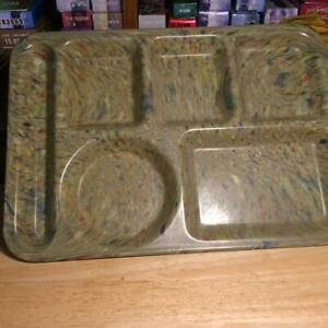 "Vintage Texas Ware 146 Melmac Melamine Confetti Green Lunch Serving Tray 10""X14"""