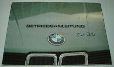 Betriebsanleitung BMW 5er E28 518i 520 525e 525i 528 528i 524 td ohne Eintrag 83