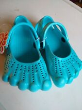 Nwt Silly Feet Aqua Blue Toddler Size Small 5-6 Slip-On Water Shoes Toes