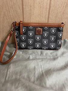 Dooney & Bourke Oakland Raiders Large Slim Wristlet or Shoulder Bag