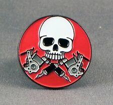 Metal Enamel Pin Badge Brooch Tatoo Tattoo Skull Roundal Circle