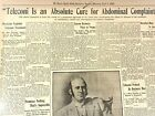 Newspaper Medical History 1909 Teleconi Cure For Abdominal Complaints