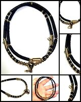 "24"" Handmade Coconut Shell Gala Prayer Beads 3 Hook Buddha Thai Amulet Necklace"
