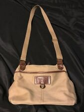 RELIC BRAND Brown Tan Canvas Hobo/Shoulder Bag/Cross Body Messenger Bag