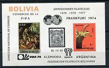 Bolivien Block 44 postfrisch / Fußball - Orchideen .......................1/1379