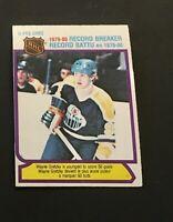 1980-81 O-pee-chee #3 Wayne Gretzky Record Breaker Edmonton Oilers OPC