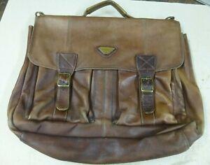 Harold's Aktentasche, braun, Leder, Fachteiler, Vintage