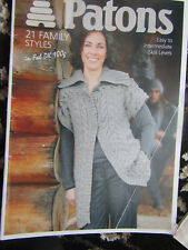 Patons 21 Family Styles Knitting Pattern Book in DK