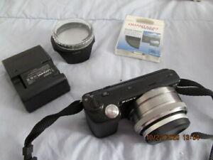 Sony NEX-5  AVC HD Digital Camera w/extra battery, strap, lenses, sd card etc
