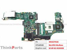 """Lenovo ThinkPad W530 T530 15"""" Nvidia N14P-Q3 K2000M Motherboard 04X1549 04X1529"""