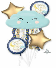 TWINKLE LITTLE STAR Balloon Bouquet Baby Shower Party Decoration Supplies ~ 5pc