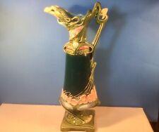 Antique Majolica Jugendstil Art Nouveau Vase Ewer c.1800's