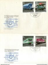 GERMANY 1979 TRANSPORT ON PAIR OF UNADDRESSED FIRST DAY COVERS