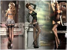 Edle Strümpfe BALLERINA Spitze Muster Strumpf Nylons Luxus Stockings Dessous