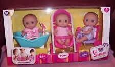 JC Toy Mini Nursery Lil' Cutesies Gift Set Bibi Mimi Lulu Berenguer Dolls New