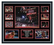 MICHAEL JORDAN CHICAGO BULLS SIGNED PHOTO LIMITED EDITION FRAMED MEMORABILIA