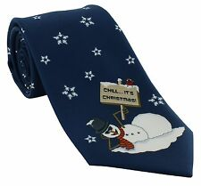 Michelsons of London Christmas Snowman Polyester Tie