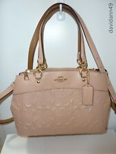NWT Coach F28472  Mini Brooke Carryall Satchel in Signature Leather - Nude Pink