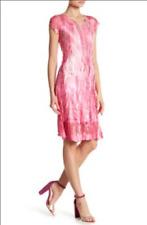 Komarov Cap Sleeve V-Neck Dress (size S)