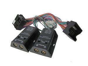 VW Quadlock High Low Adapter Chinch für Originalradio Ausgang Verstärker 4 Kanal