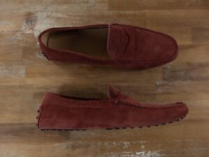 TOD'S Gommini brick color suede driving loafers - Size 11.5 US / 10.5 UK / 45 EU